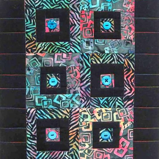 """Button quilt mounted on a 12"""" x 16"""" Artist's Canvas"""