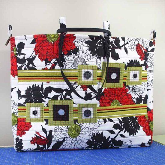 Completed designer tote bag