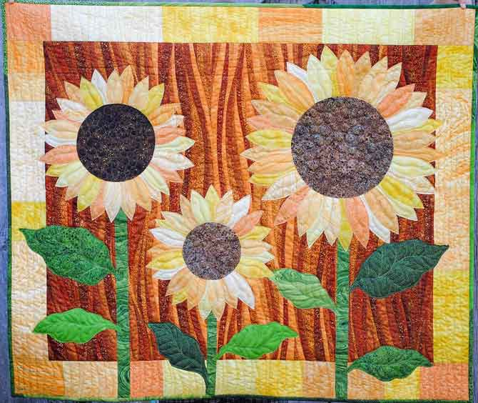 The finished Sunflower Quilt