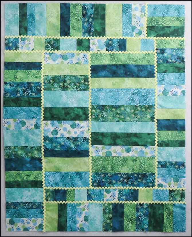 Your modern baby quilt is ready to be quilted!