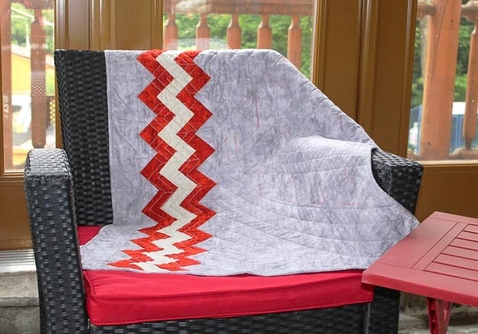 Finished quilt using PFAFF creative icon