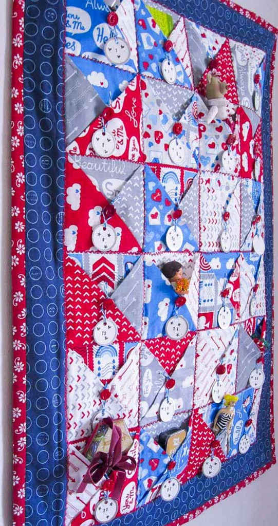 Almost ready to start counting the days, or our blessings, with the Pockets Full of Blessings wall quilt.
