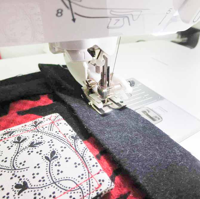 Sewing the binding with the walking foot on the Brother NQ900