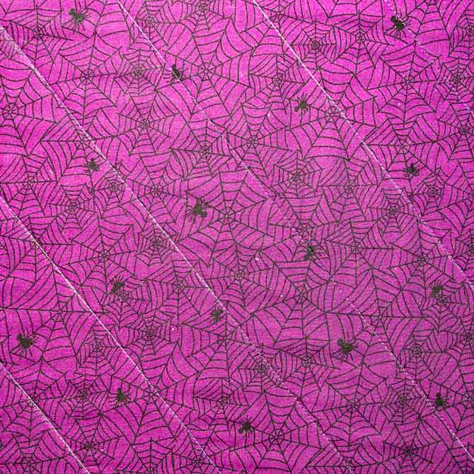Stitched straight quilting lines