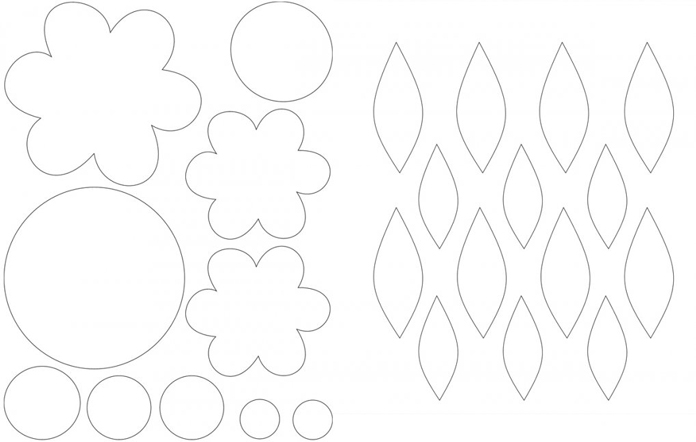 Shapes ready to print or trace on fusible web