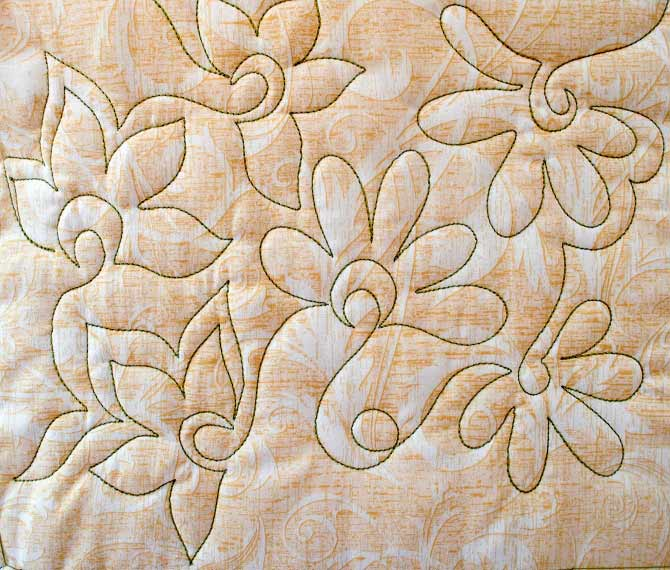 Free Motion Quilting Fun with Flowers - QUILTsocial