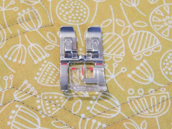 presser foot 1A binding with decorative stitches PFAFF sewing machine
