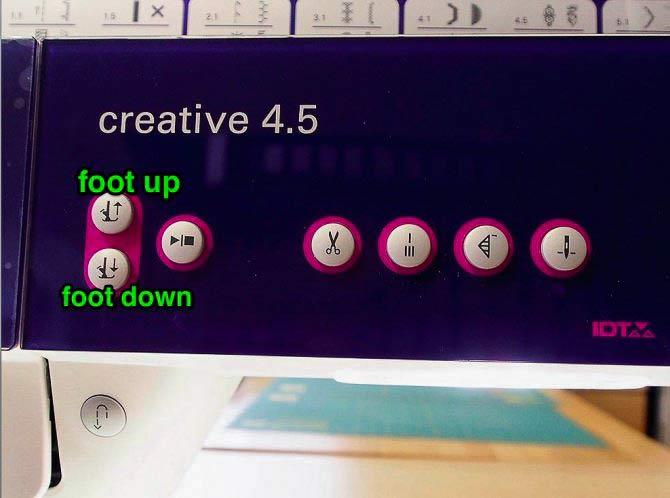 Presser foot buttons