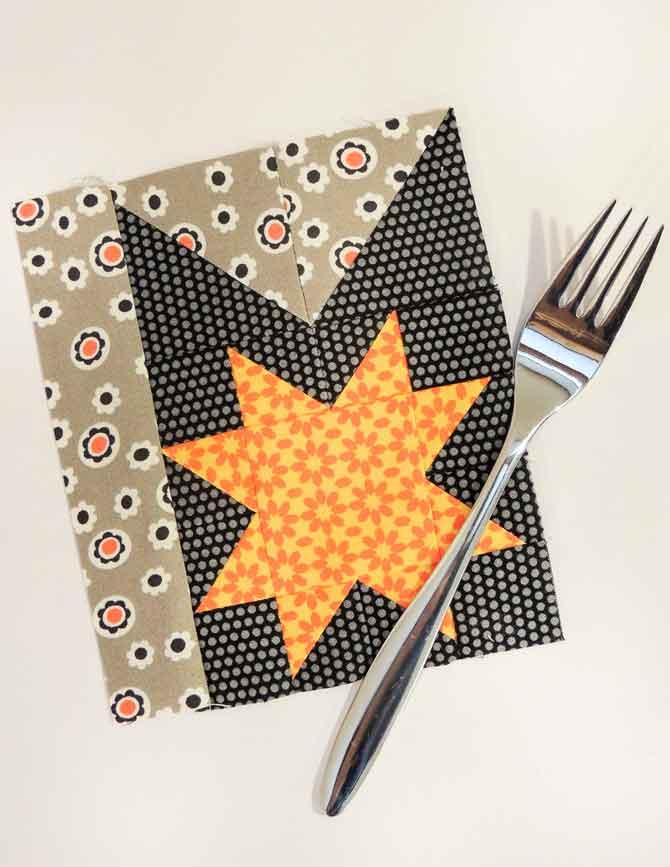 fork block pieced star block