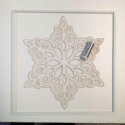 Framing glittery snowflake