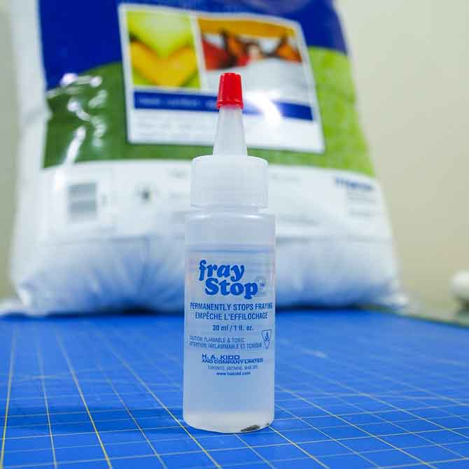 A bottle of Fray Stop