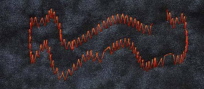 Free motion zigzag