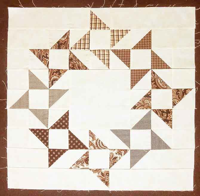 Friendship Star Wreath Block
