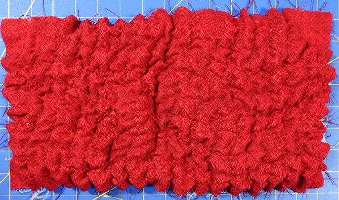 Red fabric with texture