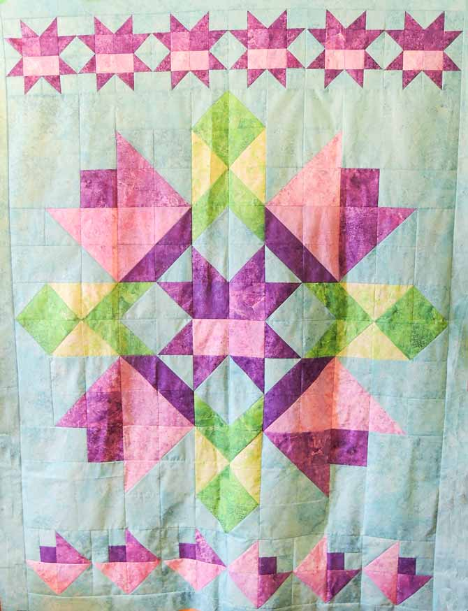 Wish upon a star for spring quilt