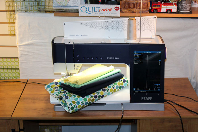 We're all set for an easy baby quilt pattern you can make in a day with the PFAFF creative icon