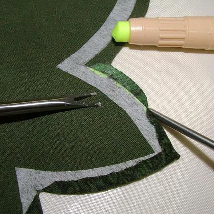 Glue and turn seam allowance
