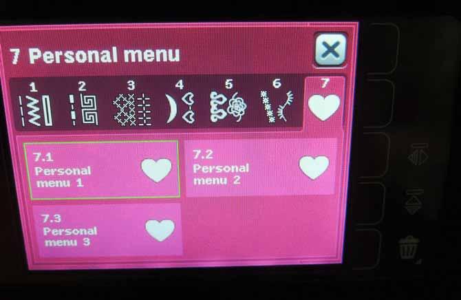 Personal menu stitches Performance 5.2