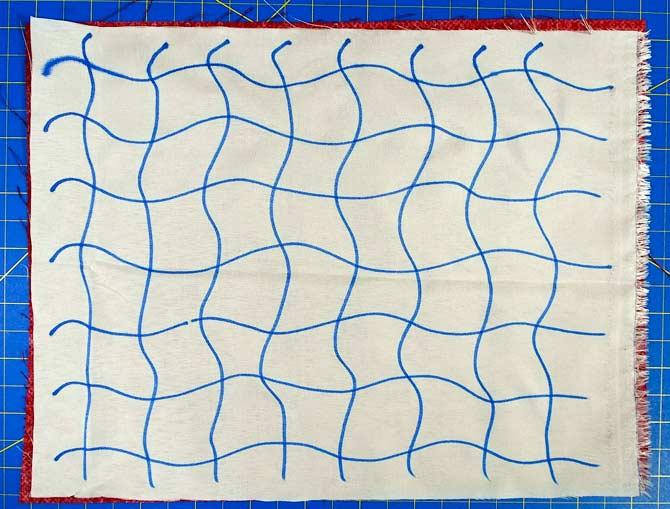 Stitching lines drawn on Stitch-N-Seam