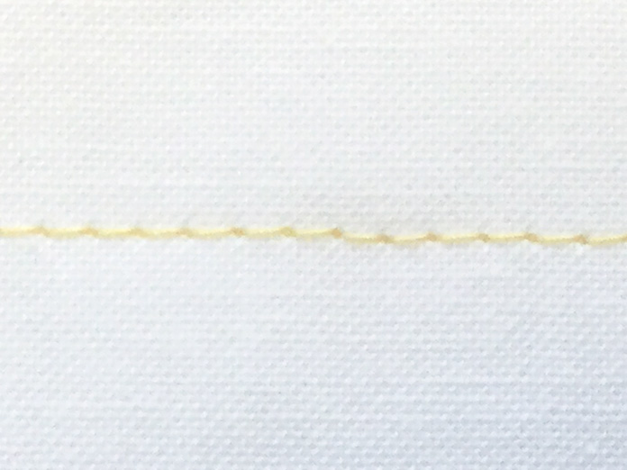 Gütermann 50 weight cotton thread stitched with SCHMETZ Quilting 11 needle