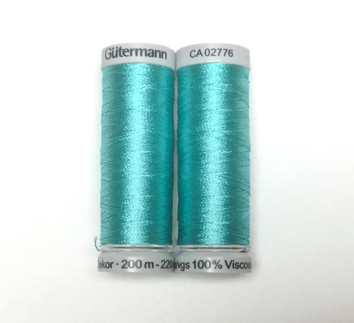 Gütermann Dekor rayon thread color 7337 Bright Aqua