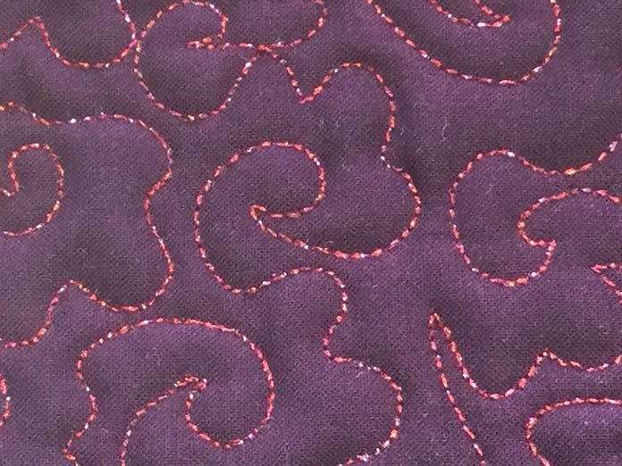 Gütermann Metallic Sparkle for high relief quilting