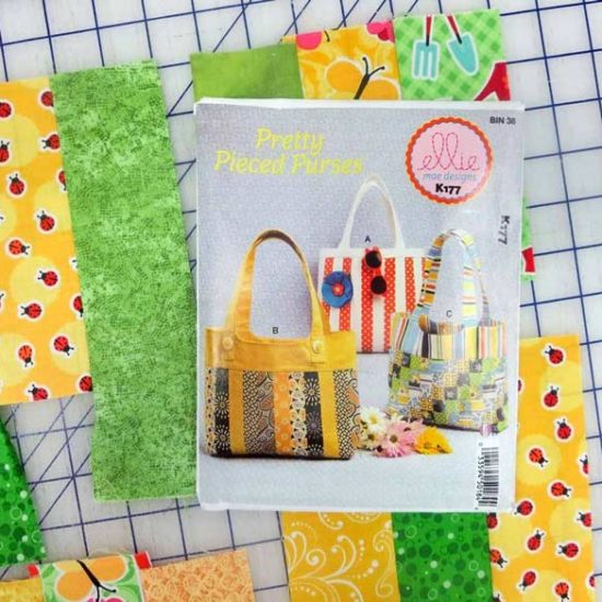 ellie mae Pretty Pieced Purses pattern #K177