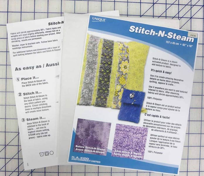 Stitch-N-Steam for making texturized fabric