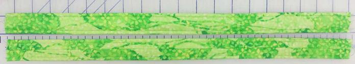 Top-stitch edges of handles.