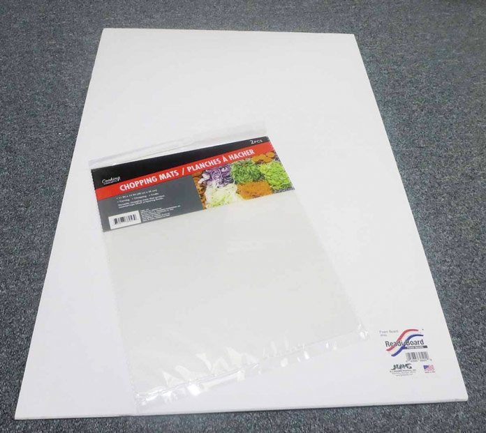 Plastic cutting mat and foam core board