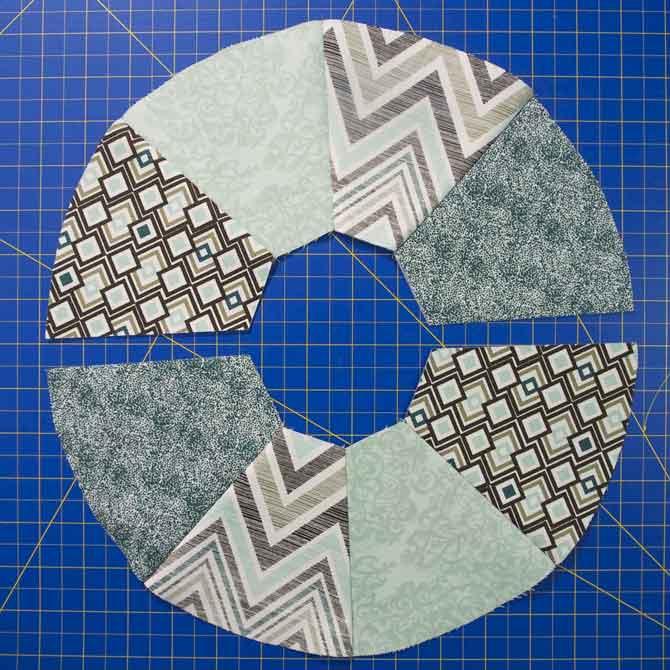 Pairs sewn into halves