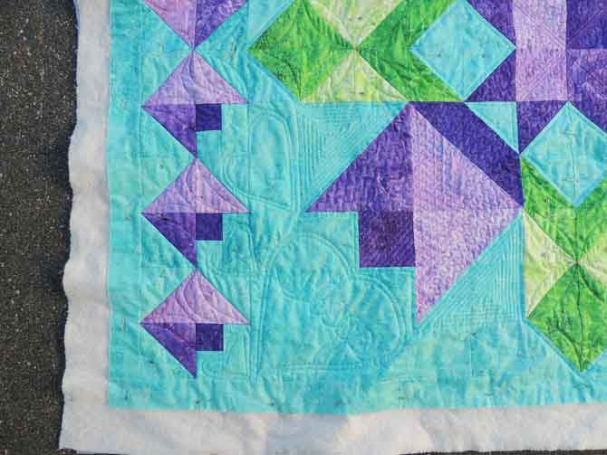 Hearts quilted on Wish Upon a Star for Spring