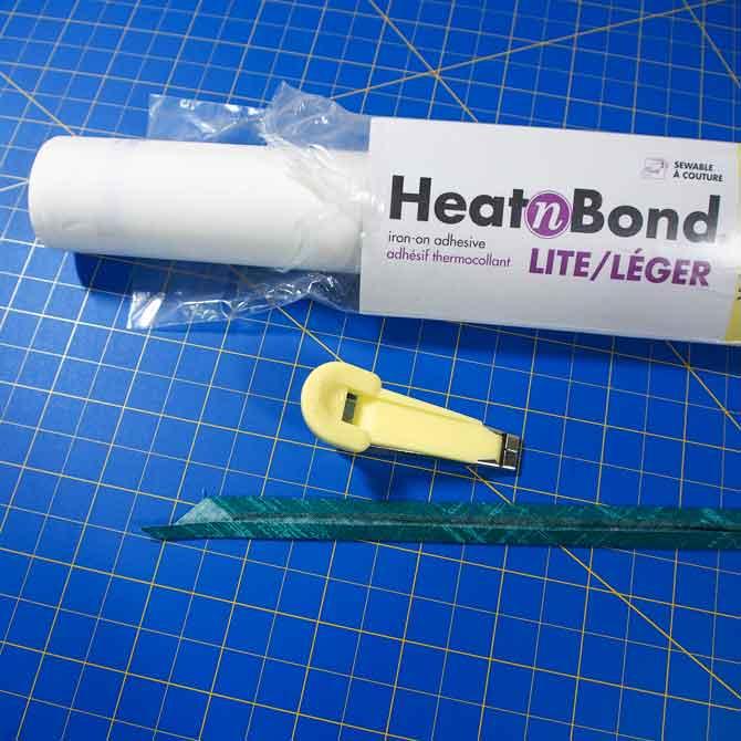 Heat 'n Bond, bias tape maker and bias strip
