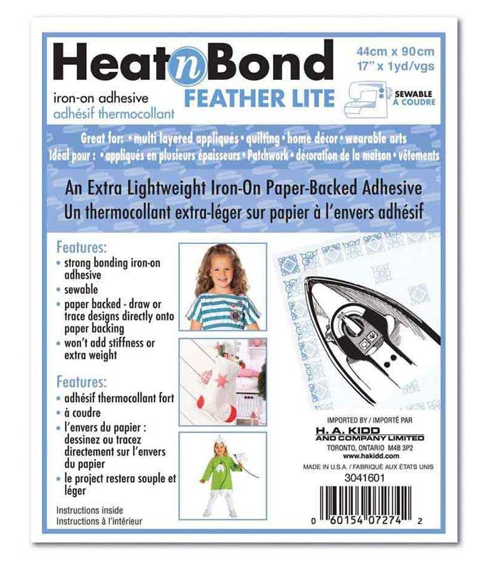 HeatnBond Feather Lite makes appliqueing letters to a quilt project easy.