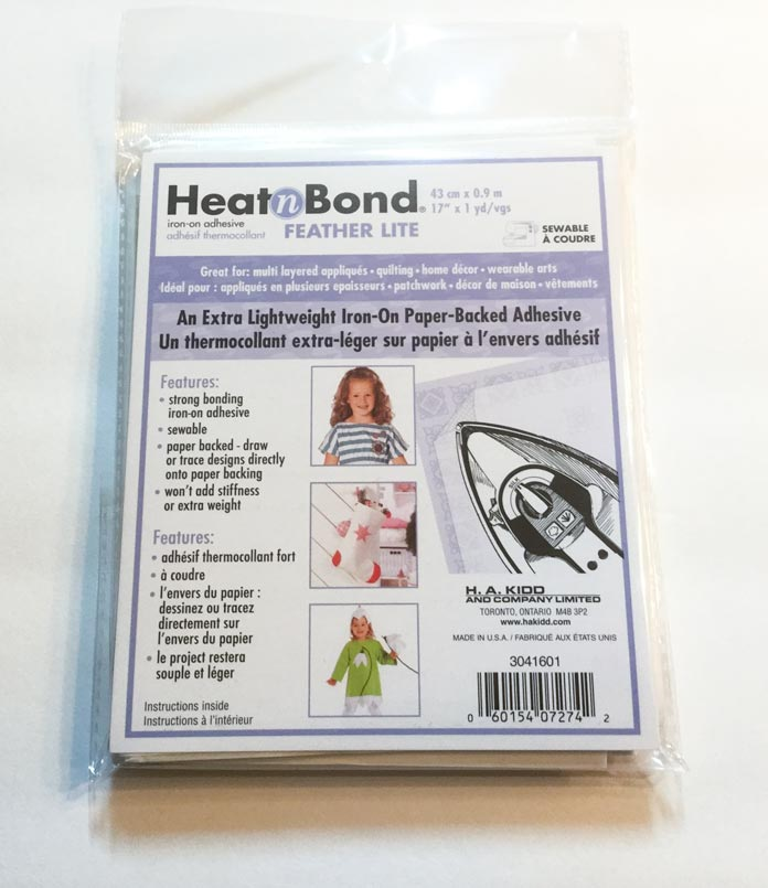 HeatnBond Feather Lite extra lightweight iron-on paper-backed adhesive