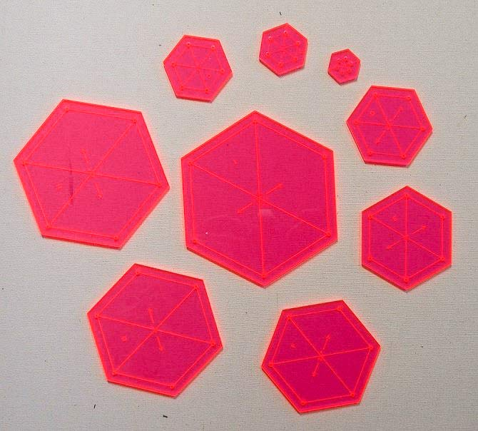 Multiple hexagon templates
