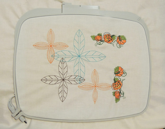 Stitched out embroidery designs