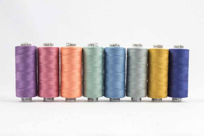 spools of Konfetti Threads in an assortment of colors