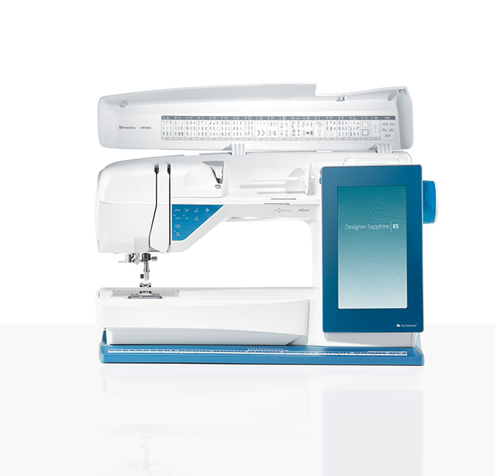 The Husqvarna Viking Designer Sapphire™ 85 sewing and embroidery machine