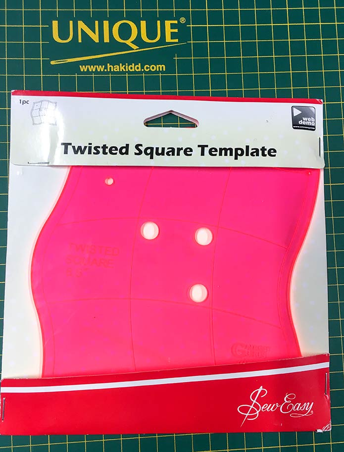 The Twisted Square Template from Sew Easy