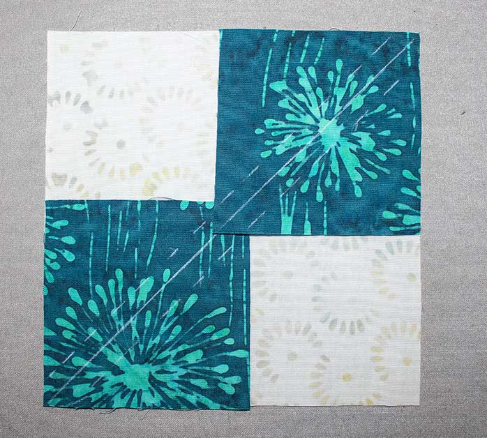 Step 5A - Instructions for Spectrum QAL 2020 Block 2 featuring The Little Girl in the Blue Armchair collection by Anthology Fabrics.