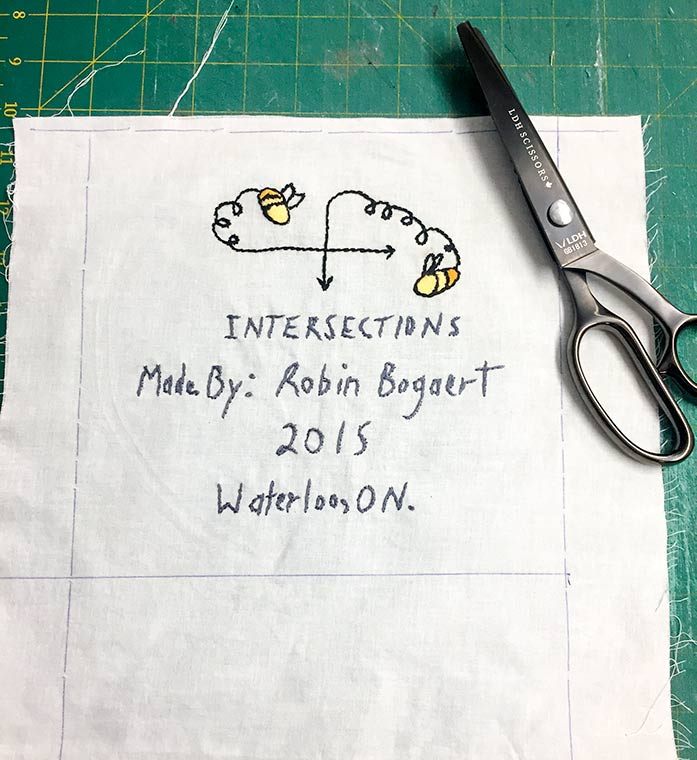 How to use pinking sheers, how to use pinking sheers for quilt labels.