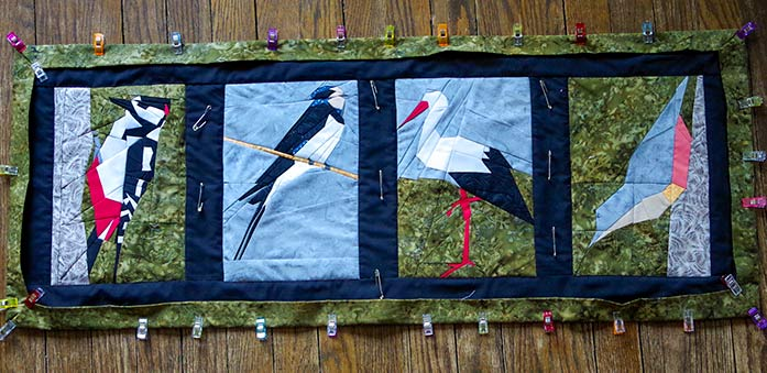 Adding the binding to the Birds of a Feather table runner