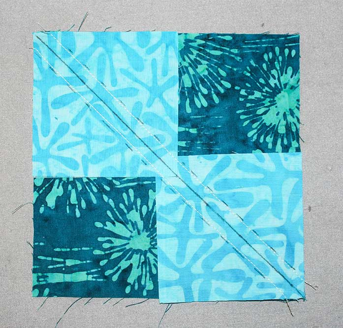 Step 7A - Instructions for Spectrum QAL 2020 Block 2 featuring The Little Girl in the Blue Armchair collection by Anthology Fabrics.