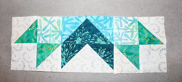 Step 10 - Instructions for Spectrum QAL 2020 Block 2 featuring The Little Girl in the Blue Armchair collection by Anthology Fabrics.