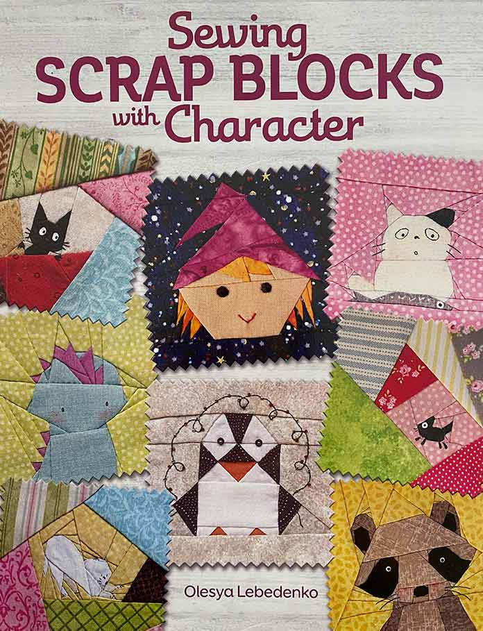 Olesya's newly released book, Sewing Scrap Blocks with Character, contains hundreds of scrap quilt block designs!