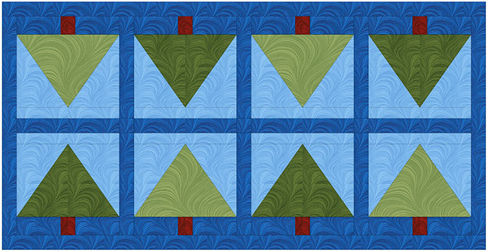 A foundation-pieced table runner that's easy to make in time for a summer BBQ. UNIQUE sewing and quilting template sheets, HEATNBOND Stitch n Sew EZ Print Quilt Block Sheets, UNIQUE folding cutting mat, SEW EASY Quilting Ruler