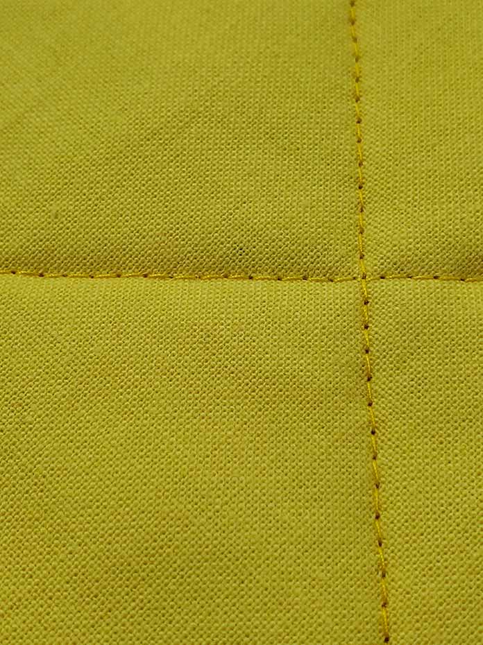The stitches on the back of the quilt stitched with the Husqvarna Viking Brilliance 75Q