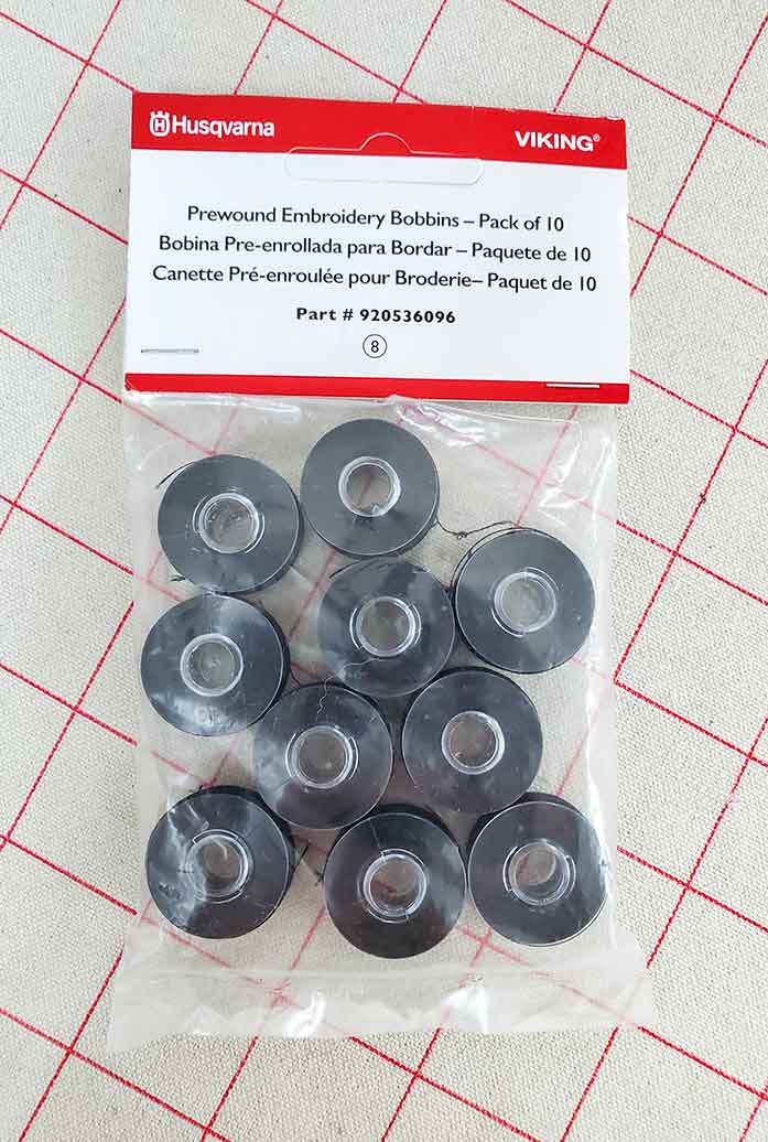 A package of pre-wound bobbins for the Designer EPIC and Designer EPIC 2