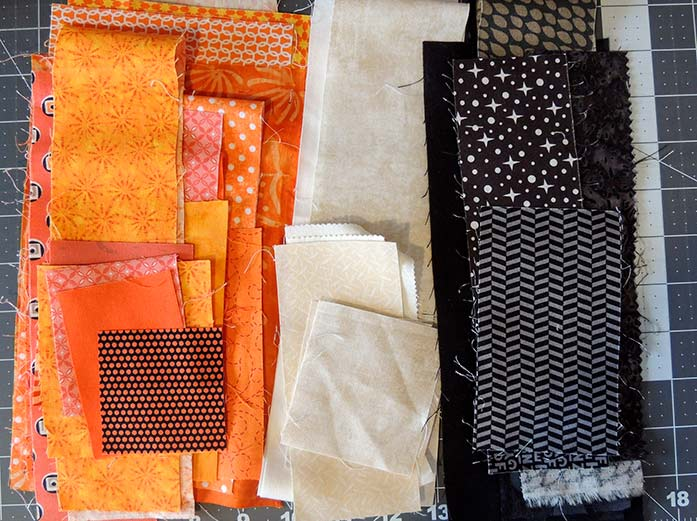 Fabrics I've chosen for this project